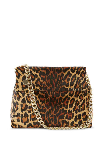 Karen Millen, REGENT SUEDE AND LEATHER BAG Leopard Print 0