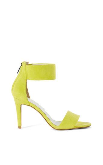 Karen Millen, SUEDE ANKLE-CUFF SANDAL Lime 0