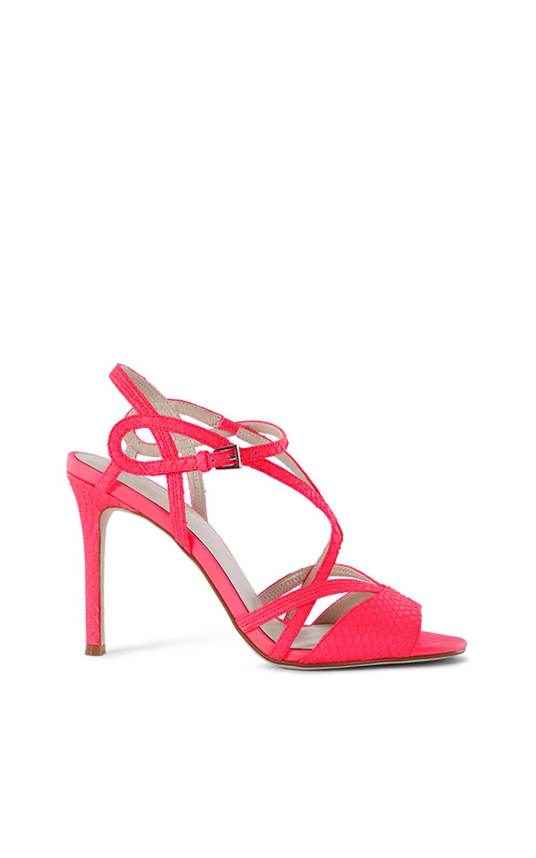Karen Millen, SNAKE STRAPPY SANDAL Pink 0