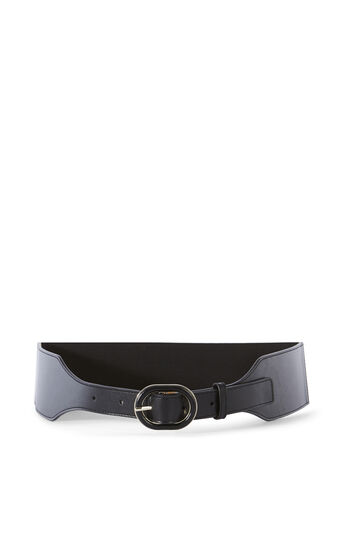 Karen Millen, LEATHER STRETCH BELT Black 0