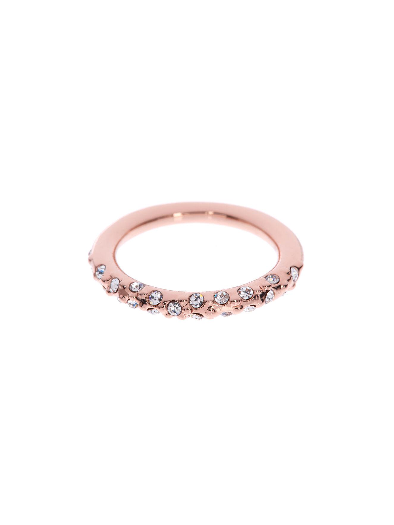 Karen Millen, Crystal Sprinkle Ring Rose Gold Colour 0