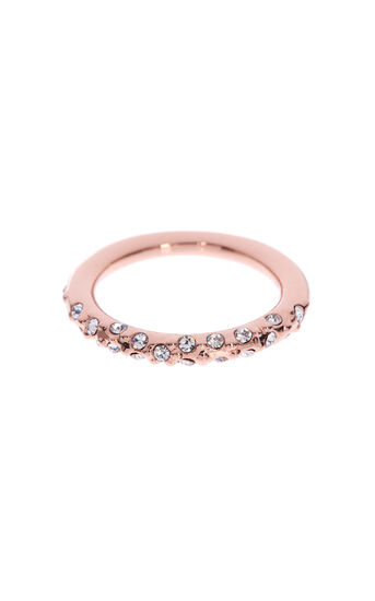 Karen Millen, Crystal Sprinkle Ring Rose Gold Colour 0