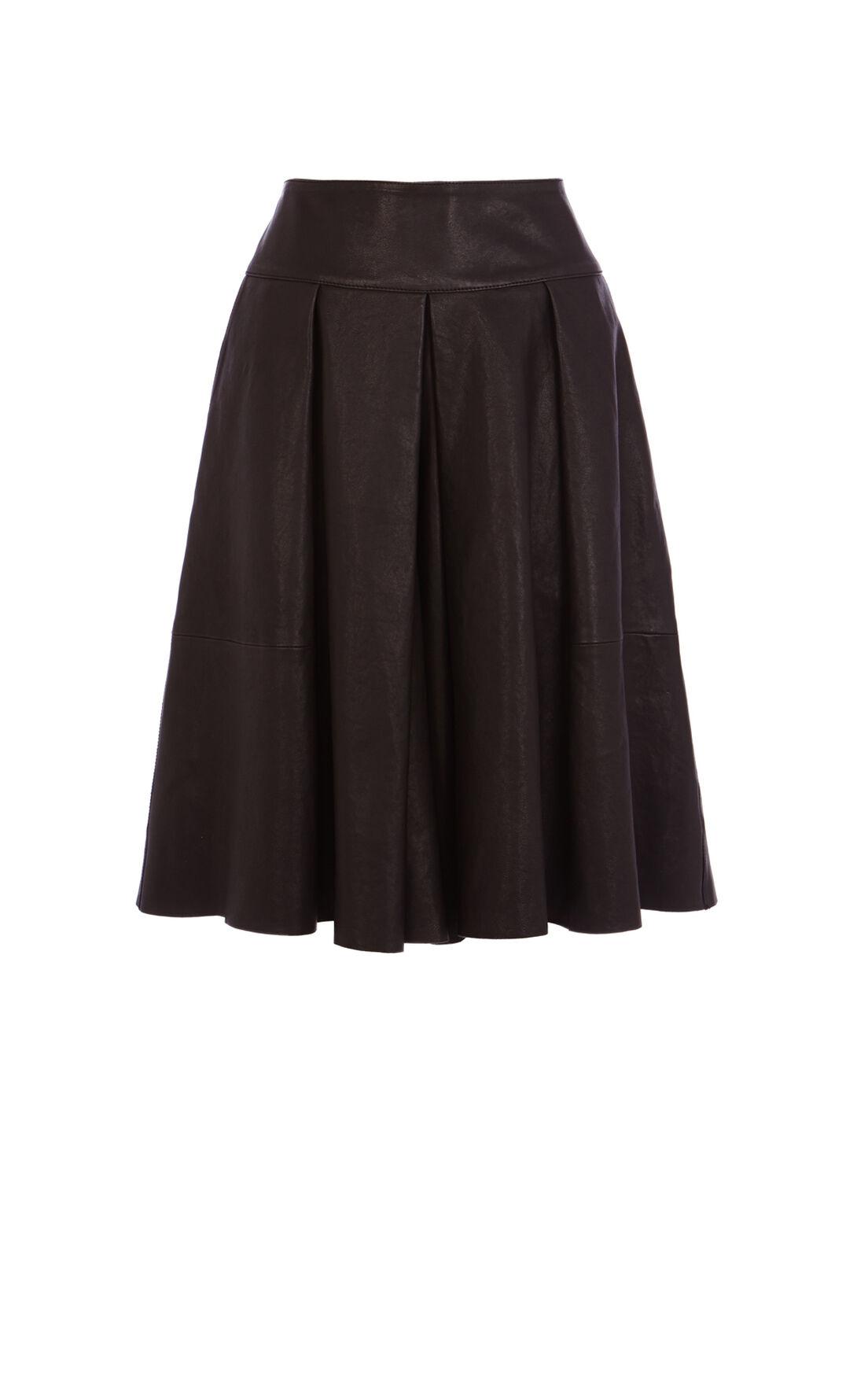 Karen Millen, Soft Leather Culotte Black 0
