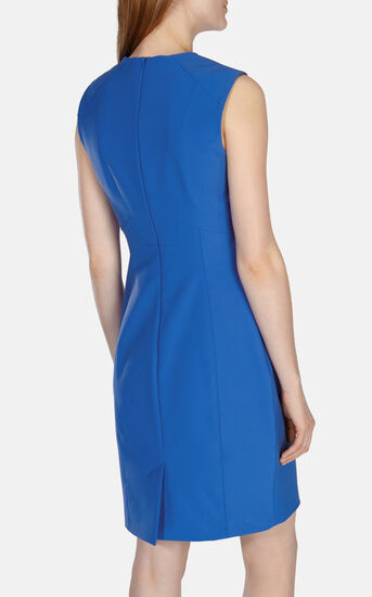 Karen Millen, TAILORED SHIFT DRESS Blue 3