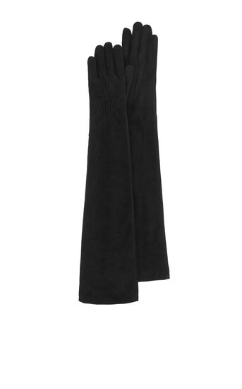 Karen Millen, SUEDE LONG GLOVE Black 0