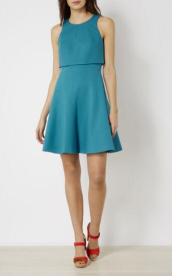 Karen Millen, CROP-DETAIL DRESS Turquoise 1