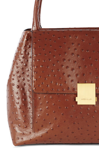 Karen Millen, OSTRICH EMBOSSED BAG Tan 5