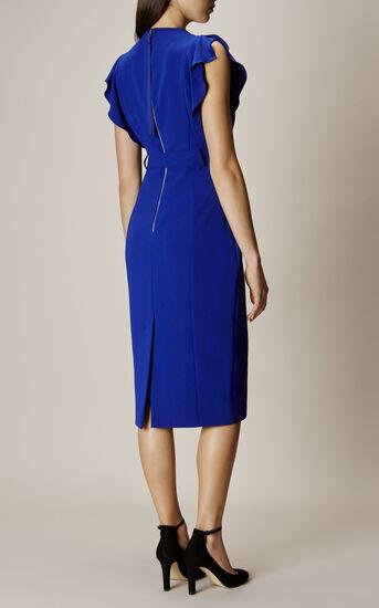 Karen Millen, FRILL WING DRESS Blue 3