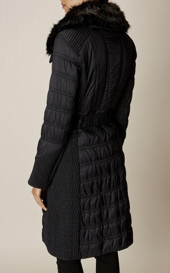 Karen Millen, BELTED PADDED COAT Black 5