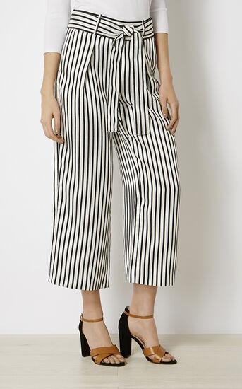 Karen Millen, STRIPED TROUSER Black & White 2