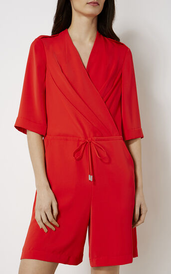 Karen Millen, RED PLAYSUIT Red 2