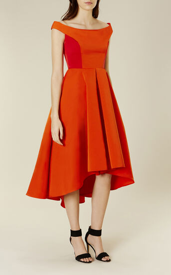 Karen Millen, OFF-THE-SHOULDER PROM DRESS Red 2
