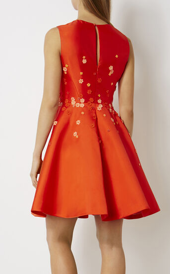 Karen Millen, BEADED PROM DRESS Orange 3