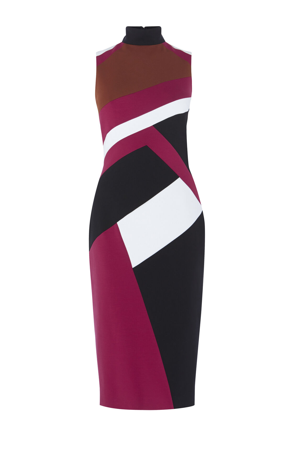 Karen Millen, GRAPHIC-PANEL PENCIL DRESS Multicolour 0