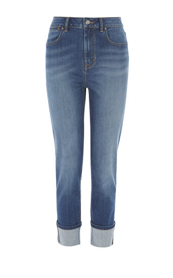 Karen Millen, TURN-UP JEANS Denim 0