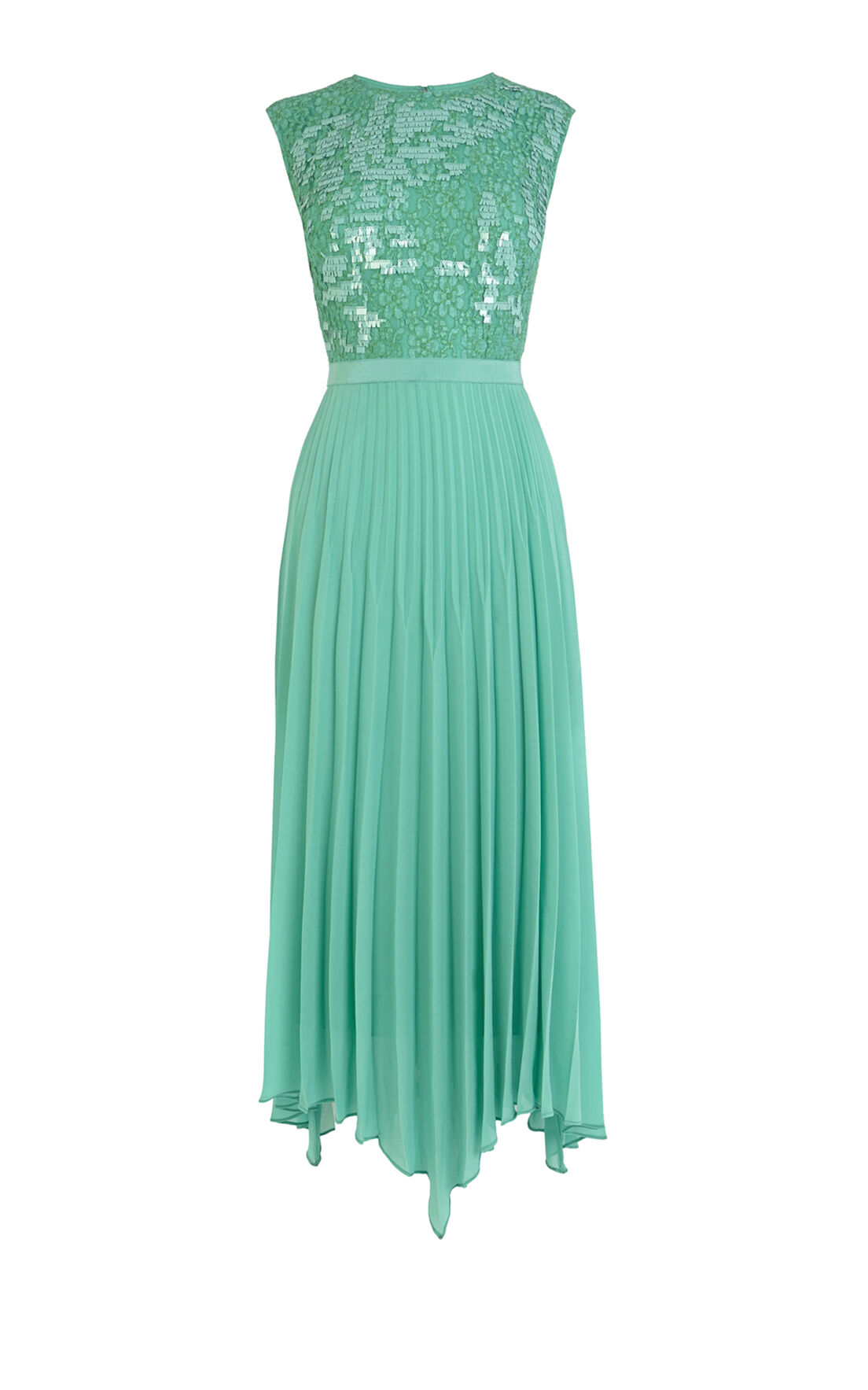 Karen Millen, Maxi with fringe effect sequin Aqua 0