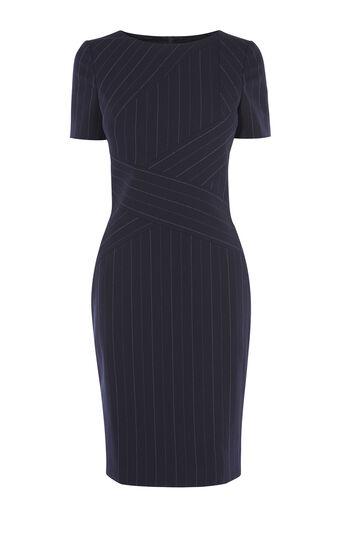 Karen Millen, PINSTRIPE DRESS Blue/Multi 0