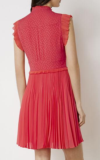 Karen Millen, PLEATED DRESS Coral 3