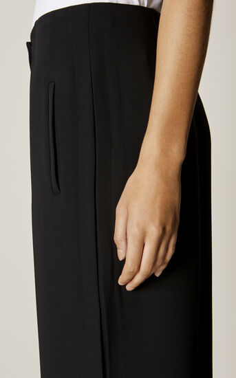 Karen Millen, WIDE-LEG TROUSERS Black 4