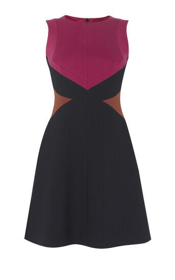 Karen Millen, GRAPHIC DRESS Red/Multi 0