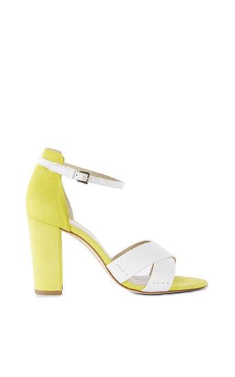 Karen Millen, Sandale Mit Blockabsatz Weiß 0