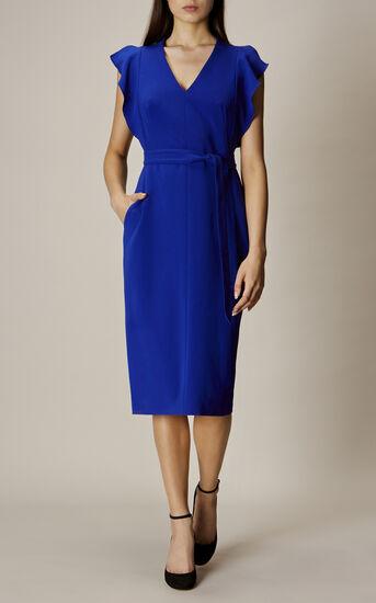 Karen Millen, FRILL WING DRESS Blue 2