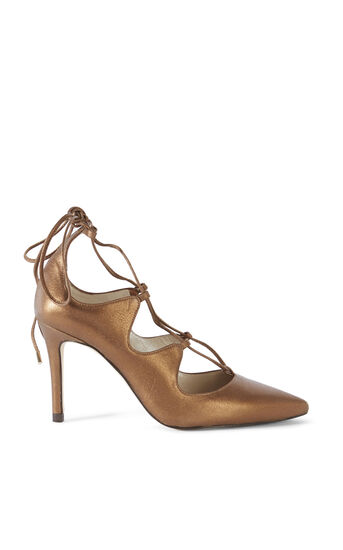 Karen Millen, LACE UP COURT Bronze 0