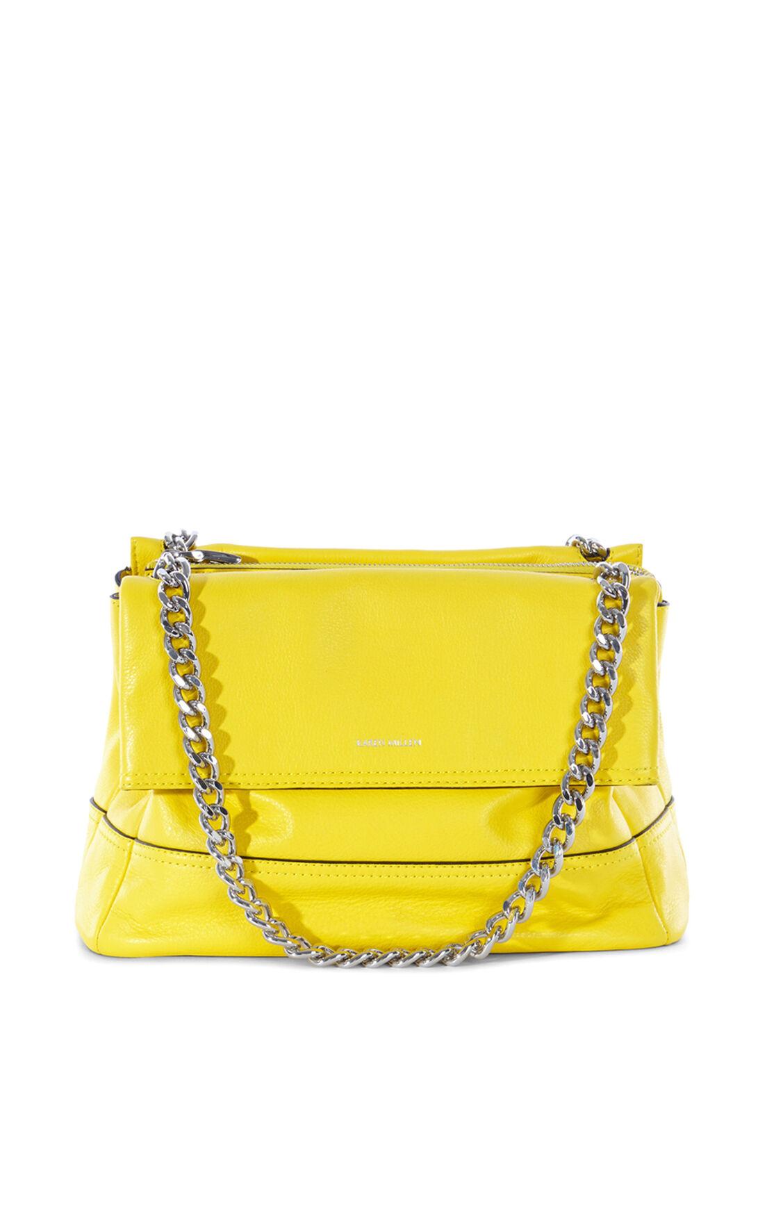 Karen Millen, SANTA MONICA LEATHER BAG Lime 0