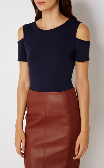 Karen Millen, ESSENTIAL JERSEY TOP Navy 2