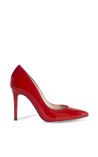 Karen Millen, PATENT AND SUEDE COURT Red 0