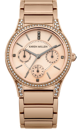 Karen Millen, Midsize multifunction with Swa Rose Gold Colour 0