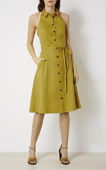 Karen Millen, HALTERNECK DRESS Lime 1
