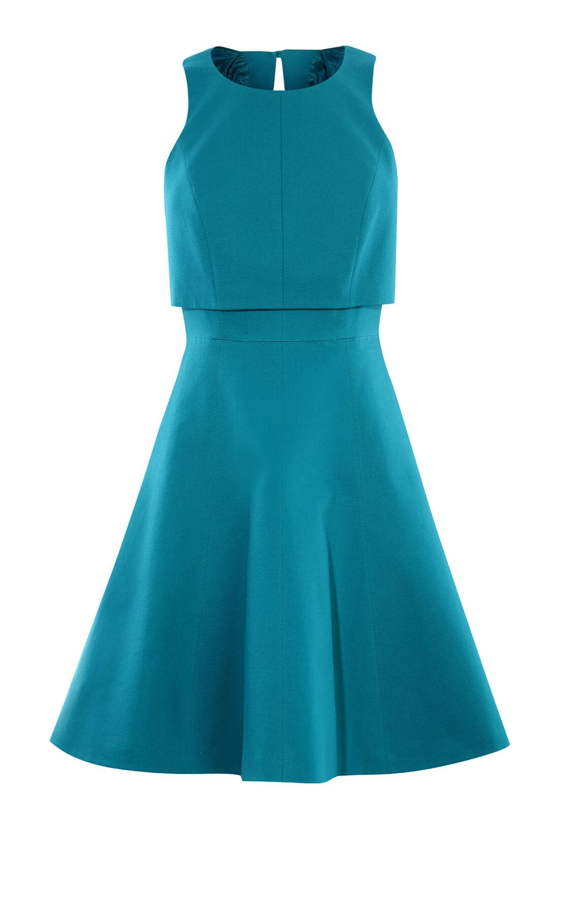 Karen Millen, CROP-DETAIL DRESS Turquoise 0