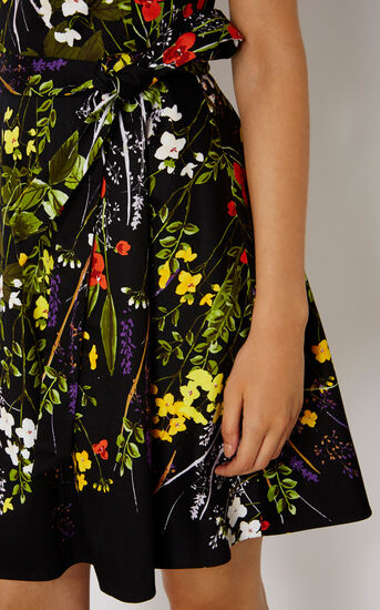 Karen Millen, FLORAL FLARED DRESS Multicolour 4