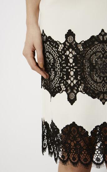 Karen Millen, LACE CREPE DRESS White/Multi 4