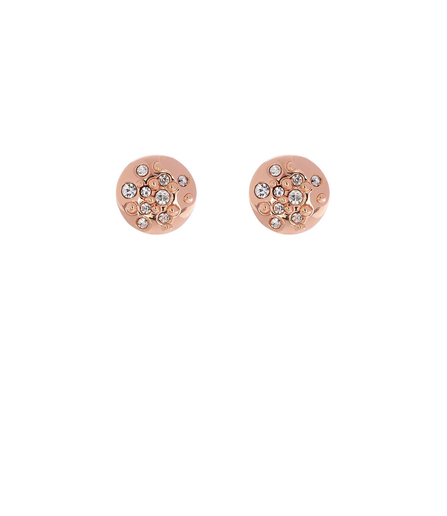Karen Millen, Crystal Sprinkle Stud Earrings Rose Gold Colour 0
