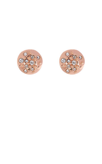 Karen Millen, Crystal Sprinkle Stud Earrings Rose Gold Colour 0