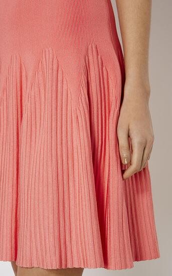 Karen Millen, RIBBED KNIT DRESS Pink 4