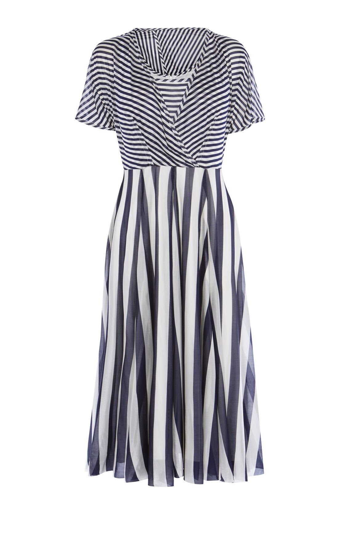 Karen Millen, STRIPED FLUID DRESS Blue/Multi 0