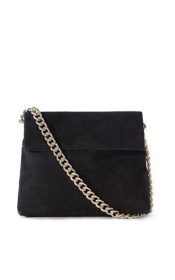 Karen Millen, REGENT SUEDE BAG Black 0