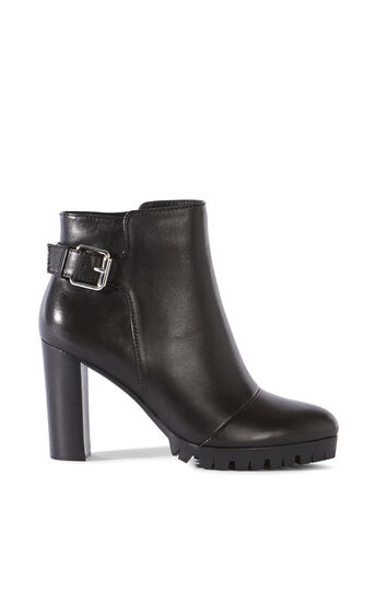 Karen Millen, HEELED BIKER BOOT Black 0