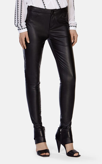 Karen Millen, Leather Look Legging Black 2