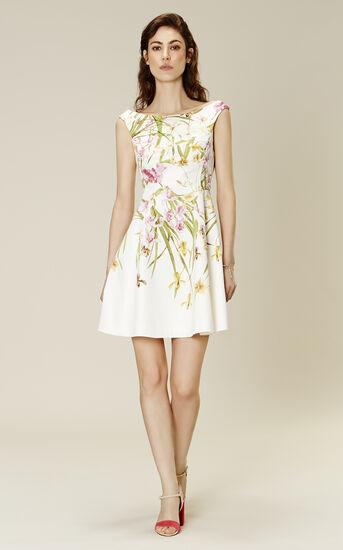 Karen Millen, LILY-PRINT COTTON DRESS Multicolour 1