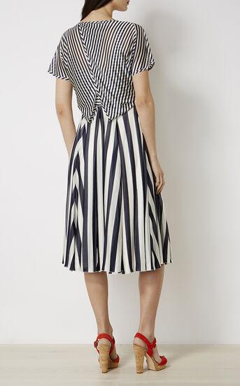 Karen Millen, STRIPED FLUID DRESS Blue/Multi 3