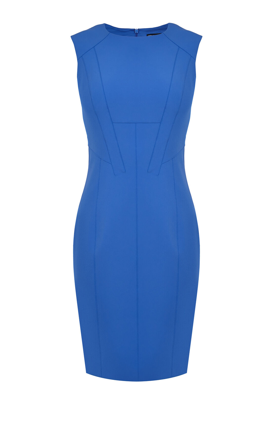 Karen Millen, TAILORED SHIFT DRESS Blue 0