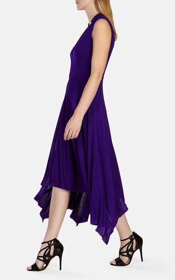 Karen Millen, FLUID CREPE LONG DRESS Purple 2