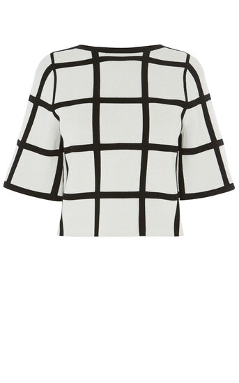 Karen Millen, CHECK TOP Black & Ivory 0