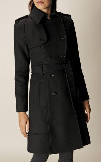 Karen Millen, BELTED COAT Black 2