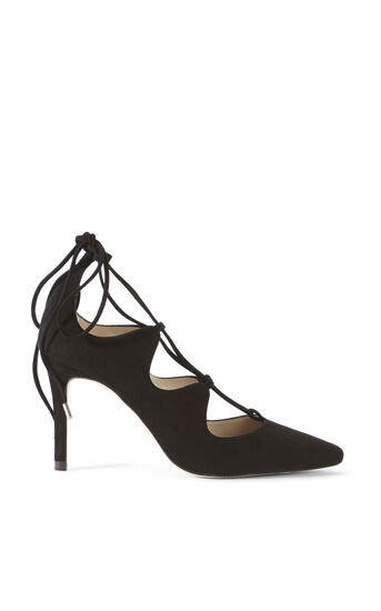 Karen Millen, LACE UP COURT Black 0