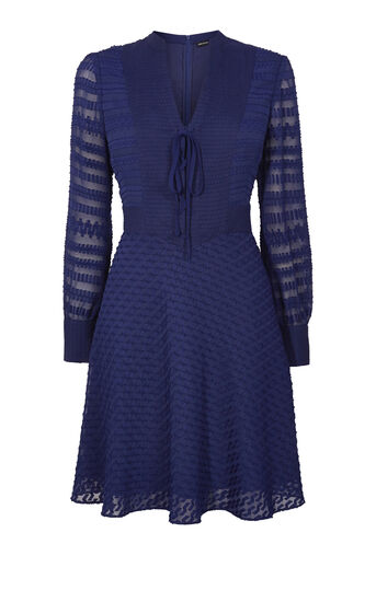 Karen Millen, DEVORÉ DRESS Blue 0